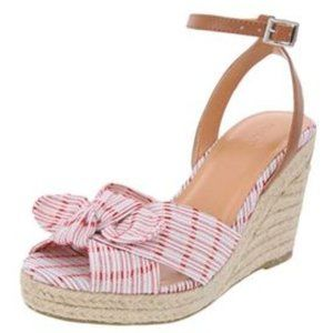 NAUTICA 6M Espadrille Wedge Sandals Red White